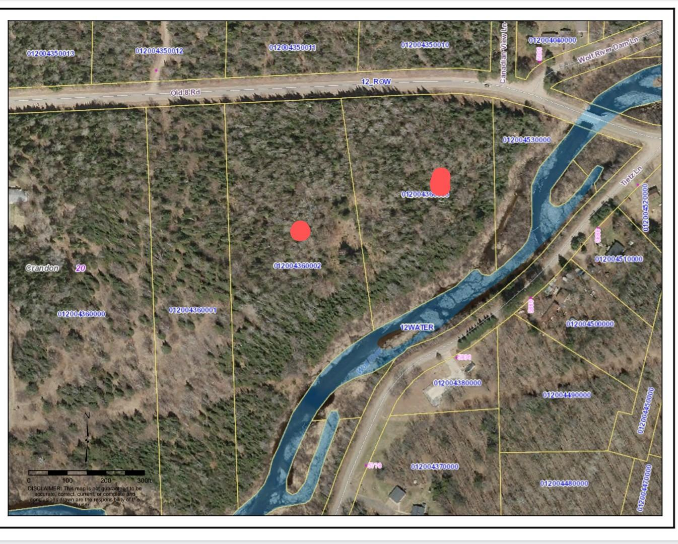 Property Image for 9.7 acres with 900' on the Wolf River