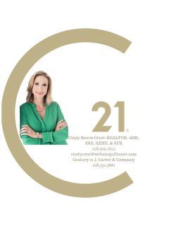 Cindy Creel of CENTURY 21 J. Carter & Company