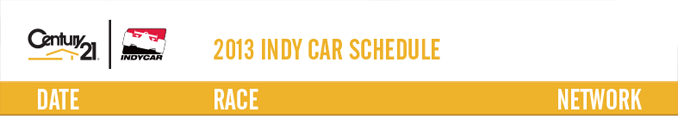 2015 Indy Car Schedule