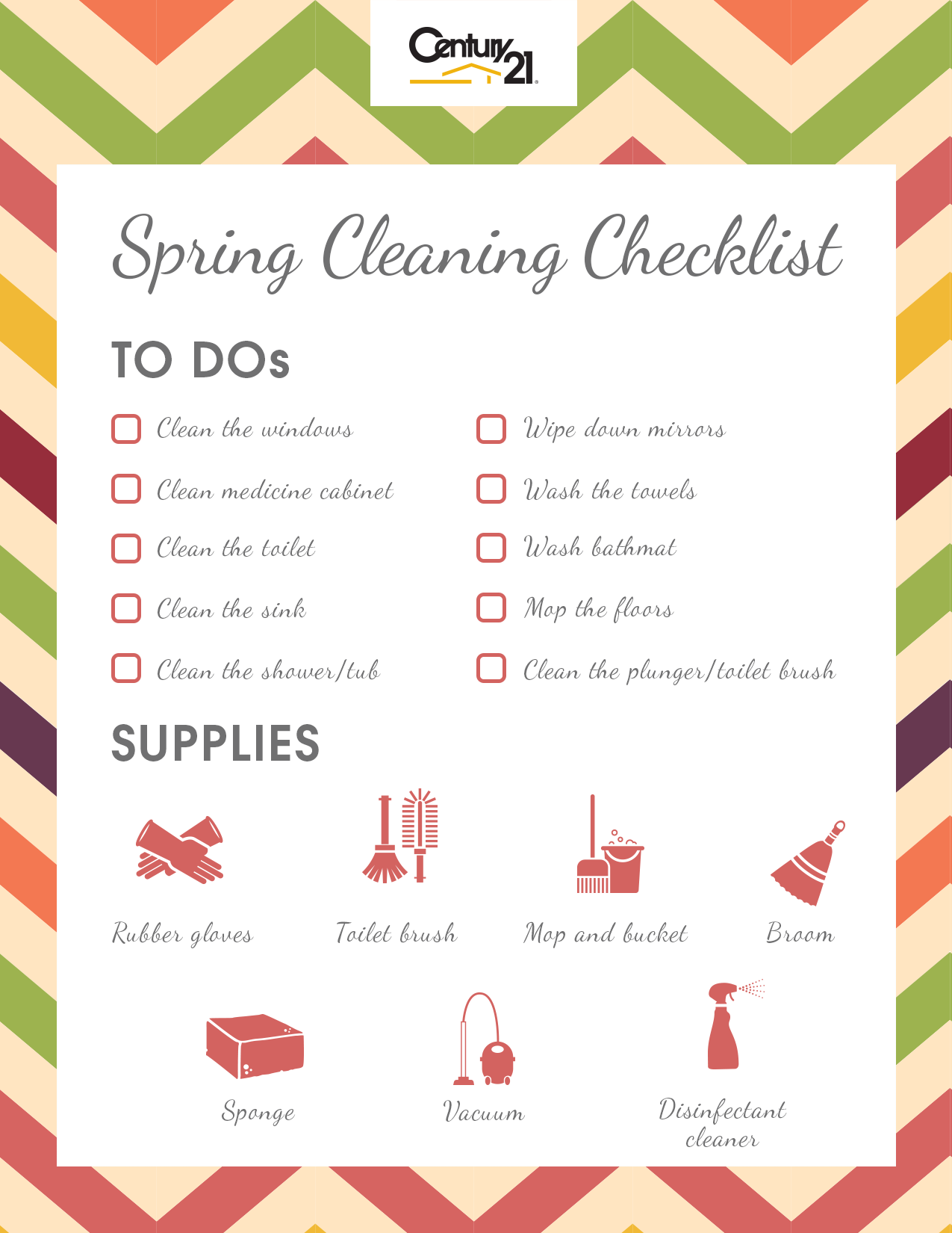 Spring Cleaning Checklist spring cleaning checklist: bathroom bacteria busters – century 21®